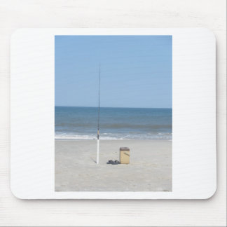 Fishing on the Beach Mouse Pad