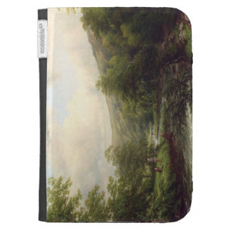 Fishing on the Dee, 1861 (oil on canvas) Kindle Cases