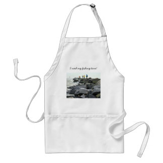 Fishing on the Jetty Barnegat Inlet Items Adult Apron