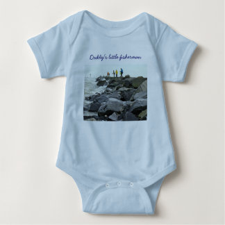 Fishing on the Jetty Barnegat Inlet Items Baby Bodysuit