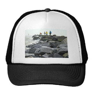 Fishing on the Jetty Barnegat Inlet Items Mesh Hat
