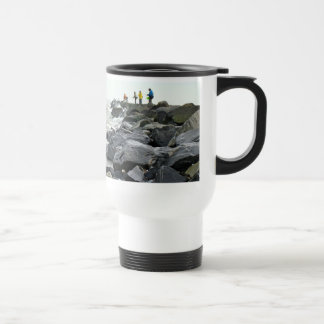 Fishing on the Jetty Barnegat Inlet Items Travel Mug
