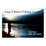 Fishing on the River at Sunset Silhouette Business Card Templates
