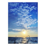 "Fishing on Wavy Water 5"" X 7"" Invitation Card"