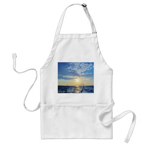 Fishing on Wavy Water Adult Apron