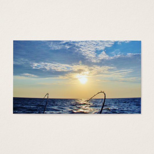 Fishing on Wavy Water Business Card