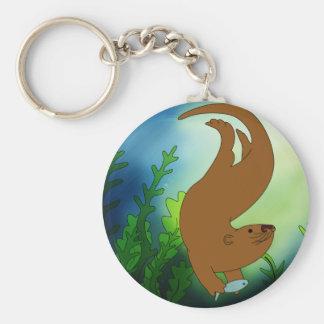 Fishing Otter Keychain