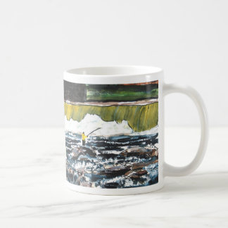 fishing painting art print angler sports mug