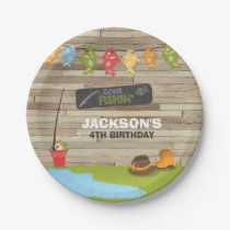 Fishing Paper Plates Boy Birthday Big one Reeling