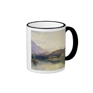 Fishing Party at Loch Achray, with a View of Ben V Mug