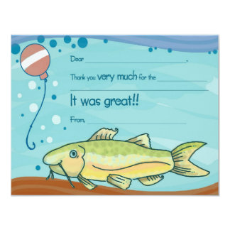 Fishing Party Fill-in-the-Blank Thank You Cards