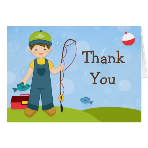 Fishing Party Thank You Card Zazzle