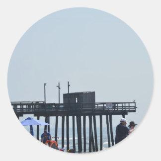 fishing peer classic round sticker