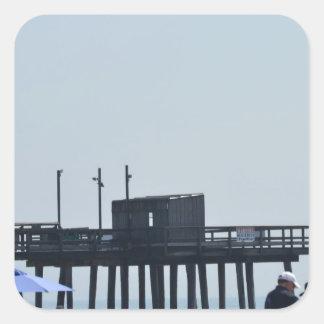fishing peer square sticker