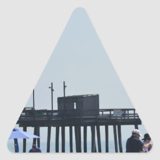 fishing peer triangle sticker