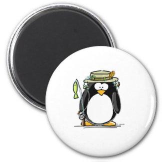 Fishing Penguin Fridge Magnets