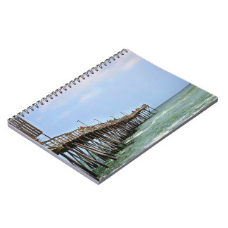 Fishing Pier by Shirley Taylor Notebook