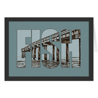 Fishing Pier Graphic Card