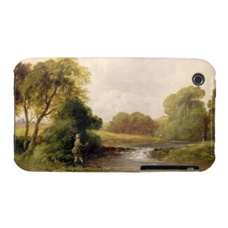 Fishing: Playing a Fish (oil on canvas) iPhone 3 Case