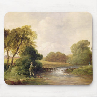 Fishing: Playing a Fish (oil on canvas) Mouse Pad
