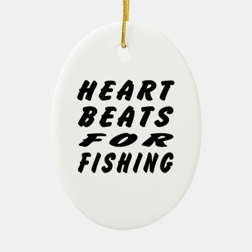 Fishing.png Double-Sided Oval Ceramic Christmas Ornament