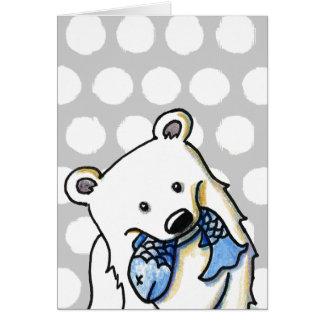 Fishing Polar Bear Card