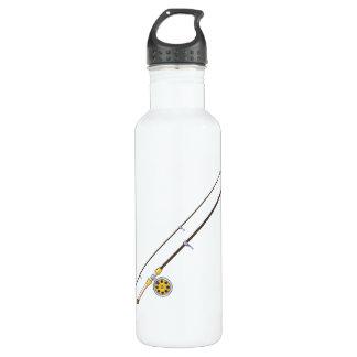 Fishing Pole 24oz Water Bottle