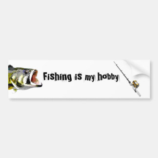 Fishing Pole Bumper Sticker