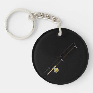 Fishing Pole Double-Sided Round Acrylic Keychain
