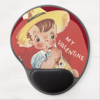 Fishing Pole Fish Country Boy Valentine Gel Mouse Pad