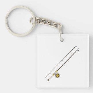 Fishing Pole Single-Sided Square Acrylic Keychain