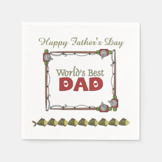 Fishing Poles Father's Day Paper Napkins
