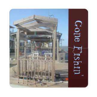 Fishing Poles Puzzle Coaster