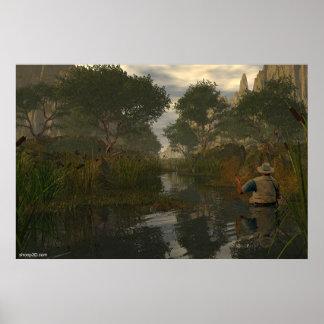Fishing Pond Poster