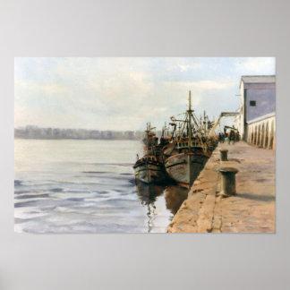 Fishing port/fishing Porto/Fishing port Poster