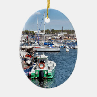 Fishing port of Concarneau in France Ceramic Ornament