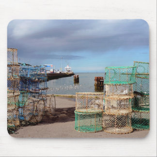 Fishing port of Ouistreham in France Mouse Pad