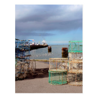 Fishing port of Ouistreham in France Postcard