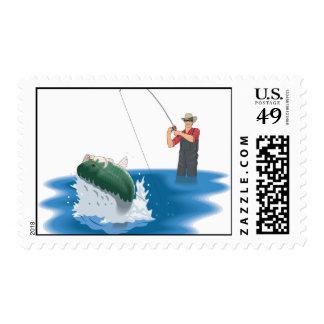 Fishing! Stamp