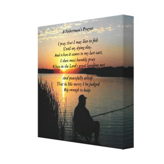 Fishing Prayer Canvas Print