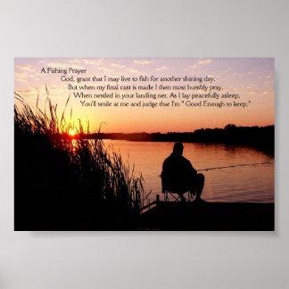 Fishing Prayer Poster