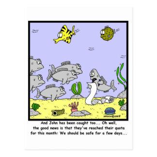 Fishing Quota: Fish cartoon Post Card