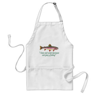 Fishing Quote Adult Apron
