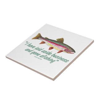 Fishing Quote Ceramic Tile