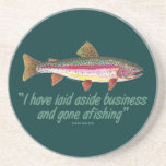 Fishing Quote Drink Coaster