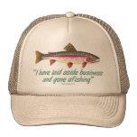 Fishing Quote Trucker Hat