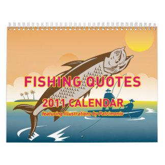 Fishing Quotes 2011 calendar by patrimonio