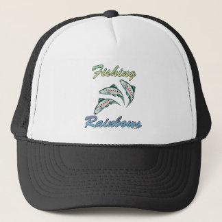 Fishing Rainbows Fishing Rainbow Trout Trucker Hat