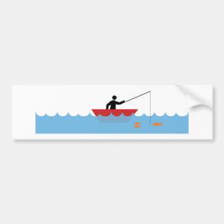 Fishing - Rather be fishing Car Bumper Sticker