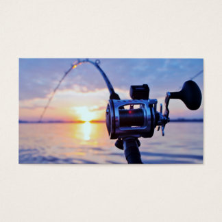 Fishing Reel at Sunset Business Card